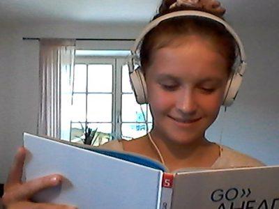 Traunstein, Emma Linsmeier, Englisch-Lernen beim Online-Unterricht