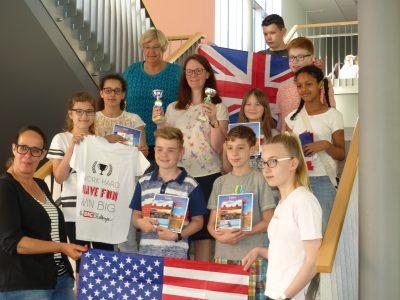 Einige Gewinner aus dem Jahrgang 6 der IGS Kaufungen. Leider waren die beiden Hessensiegerinnen in der Sprinter Kategorie erkrankt.