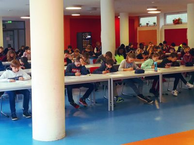 Sankt-Ansgar-Schule, Hamburg Die insgesamt 135 Teilnehmer haben während des Wettbewerbes alles gegeben.