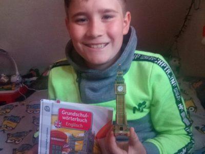 Gelnhausen, Kreis-Real-Schule, Lukas Kraft Klasse 5  Wir waren letzes Jahr in London und haben den Big Ben besucht. Den little Ben haben wir zur Erinnerung mitgebracht.