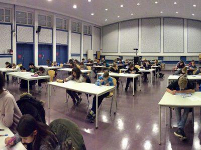 Oberschule Habenhausen, Bremen Schüler_innen aus allen Jahrgängen nehmen am Big Challenge Wettbewerb in unserer Aula teil.