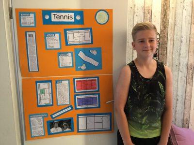 Hallo ich bin Jan Thies und bin Schüler des Abteigymnasiums in Duisburg. Auf dem Bild sieht man unser letztes Englisch Projekt : Sportarten. Ich habe über Tennis recherchiert.