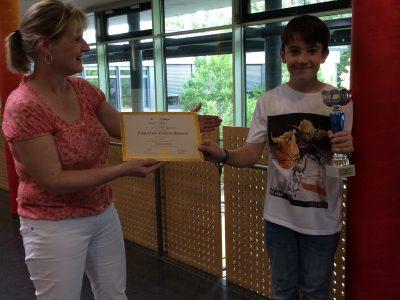 Pascal Valenta, Klasse 5f des Hanns Seidel Gymnasiums in Hösbach, freut sich über Platz 7. in nationaler Wertung. Congatulations!!
