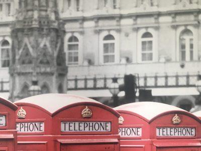 """46459 Rees Gymnasium Aspel der Stadt Rees Eine traditionelle Perspektive von London. Die Telefonzelle oder wie man in Englisch zu sagen """"call box"""""""