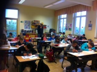 Schüler der Grundschule Groß Kölzig stellen sich der Big Challenge