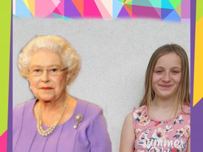 ich bin viola engelstätter aus der wallburgrealschule in eltmann. hier bin ich  mit der queen Elisabeth zu sehen wie ich sie damals besucht habe :)hahaha