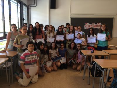 1st ESO participants glad with their awards  IES Simarro Lacabra, Xàtiva (Valencia)