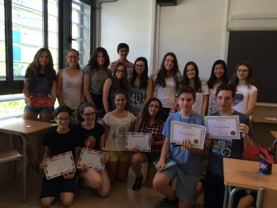 2nd ESO participants with their awards  IES Simarro Lacabra, Xàtiva (Valencia)