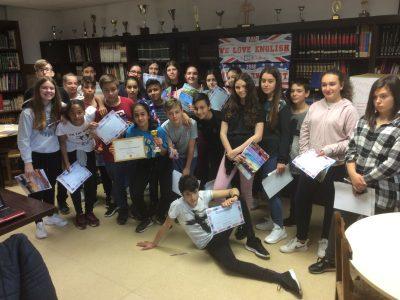 VITORIA PAULA MONTAL SCHOOL CLASE CON LA GANADORA DE ALAVA DE 2º ESO