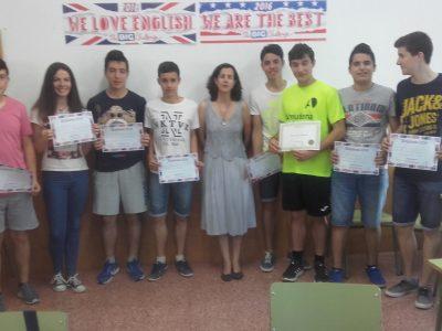 MORA-I.E.S PEÑAS NEGRAS Estos son los alumnos participantes de 3º de ESO.
