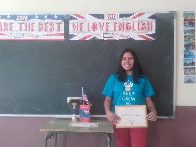 MORA- I.E.S PEÑAS NEGRAS Esta es nuestra alumna ganadora de la provincia de Toledo de 2º de ESO.