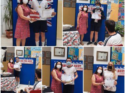 Entrega de premios del Colegio La Purísima Grao de Valencia.