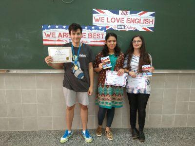 3 ganadores de 3º A Salesianos Los Boscos de Logroño