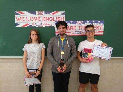 3 ganadores del Grupo de 4º Salesianos Los Boscos de Logroño