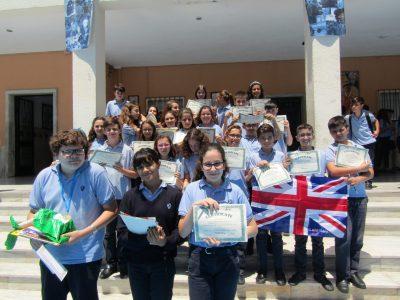 Finalistas y participantes de 1° ESO. Colegio Sagrada Familia de Alicante