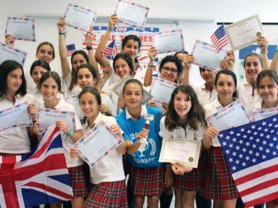 Córdoba / Colegio de Fomento El Encinar. Súper orgullosas de haber conseguido las 10 mejores condiciones de la provincia de Córdoba