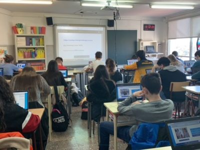 Escolapies Olesa (Olesa de Montserrat, Barcelona): 4t d'ESO participando en el concurso. 2021