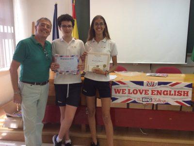 Jerez de la Frontera La Salle Buen Pastor Entrega de los premios a la alumna con mejores resultados en 1° E.S.O de la provincia de Cádiz.