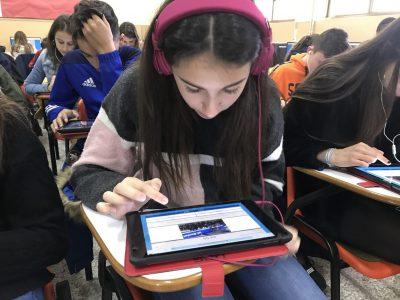 Alumnos Colegio Milagrosa Las Nieves Avila De 3º ESO concentrados durante el Concurso