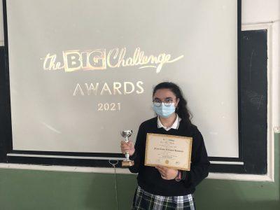 Lucía Otero. Campeona regional de 3º ESO. CPR. Plurilingüe Santiago Apóstol-Ponteareas.
