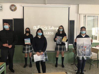Alumnos de 3ºESO en la entrega de premios. CPR. Plurilingüe Santiago Apóstol-Ponteareas.