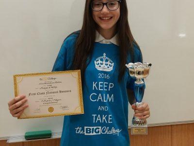 ¡ Felicidades a Ainoa! Ganadora nacional de 1° ESO, Colegio Marqués de Vallejo-Valdemoro (Madrid)