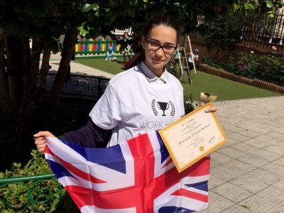 Carla Outerelo, de 4º de ESO, ganadora regional por tercer año consecutivo. CPR. Plurilingüe Santiago Apóstol. Ponteareas.