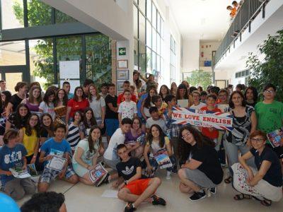 IES A SANGRIÑA, SALCIDOS, A GUARDA (PONTEVEDRA) Nuestros campeones y sus profes disfrutando de los premios. We Love The Big Challenge