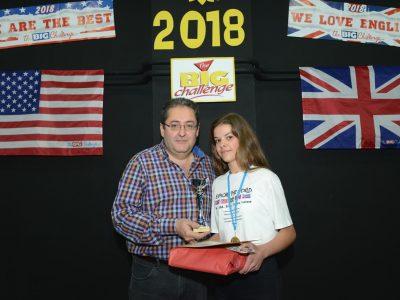 Beatriz, campeona del Big Challenge junto al Director del IES Cuatro Caminos de Don Benito (Badajoz). ¡Enhorabuena!
