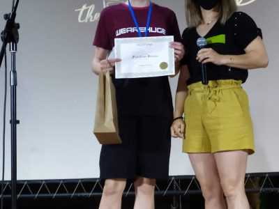 IES JUAN DE LANUZA (BORJA) Christian Sierra winner of 2ºESO