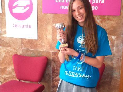 Felicidades a Rebeca, ganadora provincial 2° ESO, Colegio El Pilar Maristas, Zaragoza
