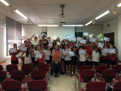 Jerez de la Frontera La Salle Buen Pastor Participantes en el concurso con sus premios.