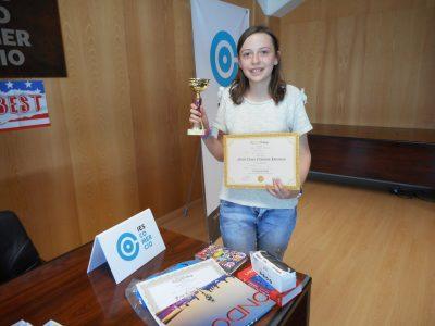 Enhorabuena a una de las alumnas ganadoras del IES Comercio-Logroño, La Rioja