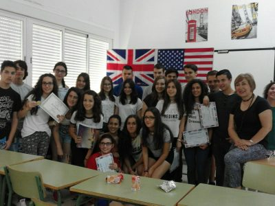 IES BENAZAIRE, HERRERA DEL DUQUE (BADAJOZ)  Congratulations to all our students!! They are so happy!! Thank you!