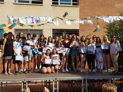 Entrega de diplomas y premios del cocurso The Big Challenge en el colegio Sagrat Cor de El Vendrell. Congratulations!!!