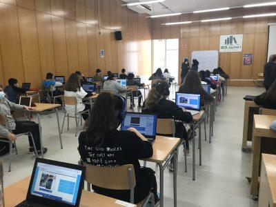 Localidad: Salou (Tarragona) Centro: INS Jaume 1 L'alumnat de 1r,2n i 3r ESO  participant en l'activitat online d'anglès, The Big Challenge, dimarts 17/4/21.