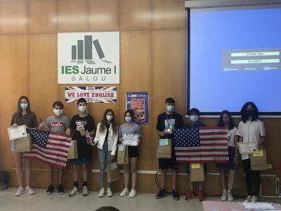 INS Jaume 1 Salou. Entrega de premios a los alumnos ganadores de 1º, 2º y 3º ESO The Big Challenge 2021