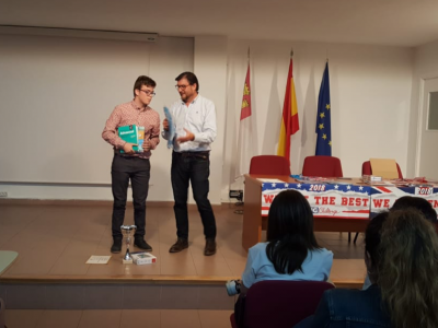 IES Azarquiel - Fernando Sánchez Inés, ganador nacional 3°ESO.  ¡ENHORABUENA FERNANDO!