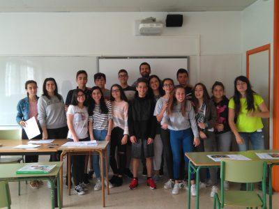 IES ESCOLAS PROVAL Nigrán, Pontevedra. Alumnos de 2°, 3° y 4° de ESO.