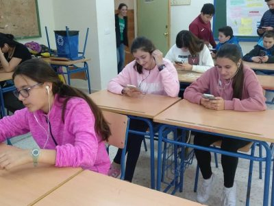 COLEGIO SAN AGUSTÍN MADRID Students at work trying to do their best in The Big Challenge 2016