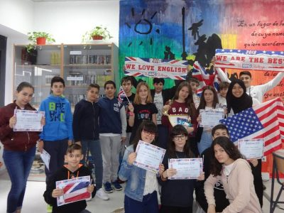 Alumnos de 1° ESO IES Sierra de Santa Bárbara, Plasencia (Cáceres)