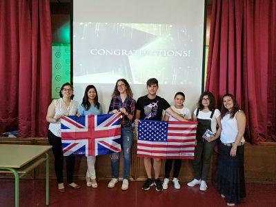 Alumnas ganadoras de 3°ESO, IES Alt Penedés, Vilafranca del Penedés, Barcelona