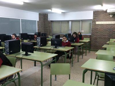 Colegio Divino Corazón. Madrid. 1° ESO en pleno esfuerzo.