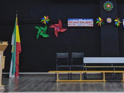 DON BENITO IES CUATRO CAMINOS Decoración para la ceremonia de entrega de los premios.