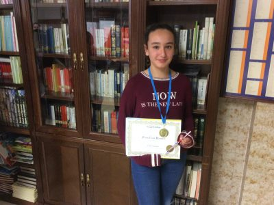 Mireia Alonso Cano. First 1º ESO.Paula Montal School,Vitoria-Gasteiz