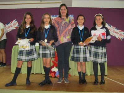 Ganadoras 1º de ESO. Colegio Santiago Apóstol. Ponteareas.