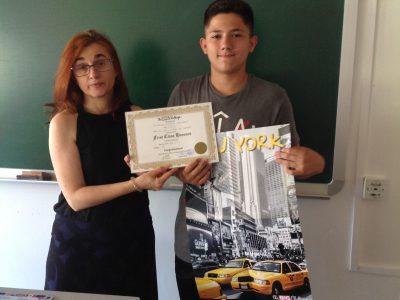 Béjar (Salamanca) IES Río Cuerpo de Hombre. Contentos de participar por segundo año consecutivo.