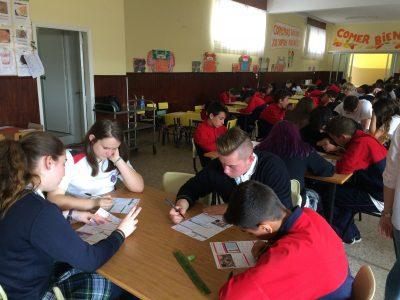 Nuestros alumnos participando en el Big Challenge. ¡Mucha suerte! CPR. Santiago Apostol. Ponteareas.