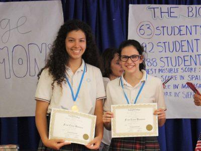 Alumnas ganadoras del Colegio Sierra Blanca, Málaga. Enhorabuena:))