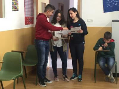 Colegio Corazòn de María, Zamora Pupils of 4°ESO relaxed after the exam...